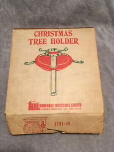 Vintage metal Christmas tree stand; great quality
