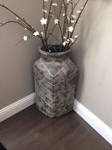 Decorative Floor Vase & Flowers