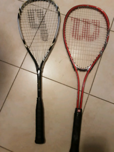 Squash racquets. Wilson and Prince.