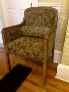 Beautiful Antique Side Chair with Lumbar Cushion, comfortable