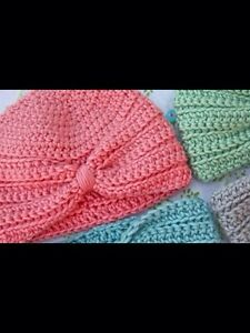 Different Crochet baby hats