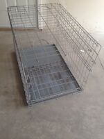 Large size wire dog crate kennel