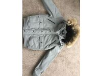 Warm Coat from Primark,Size Small,Grey.