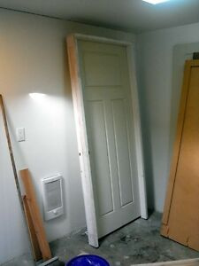 "Pre-hung 34"" primed 3 panel interior door"