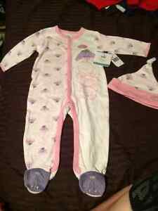 Brand New Girls Eeyore Sleeper and Hat Size 9 months