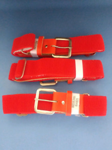 Brand New Red Baseball Belts, Youth adjustable size