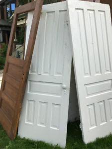 Amazing Vintage antique solid wood interior doors matching