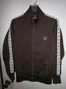 AUTHENTIC MENS BROWN FRED PERRY TRACK JACKET