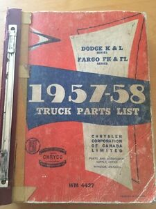 1957 1958 dodge fargo truck parts manual