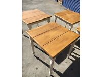 Farmhouse tables-restaurant-cafe-bistro-table and chairs x7