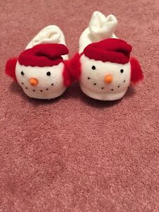 Snowman Slippers Size 4 Youth