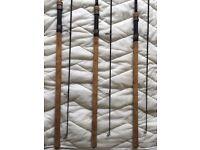 3x fox worrior s full cork 3lb 12ft carp rods