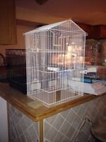 Bird cage and stand