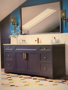 Solid maple and HDF vanities on Warehouse Clearance Sale!
