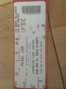 Two pearl jam tickets