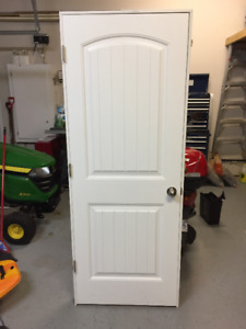 Interior White door complete with frame and hardware