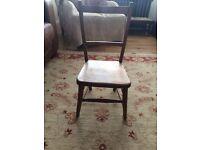 Oak antique small child's or decorative chair