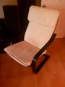 2 White and Black Arm Chairs