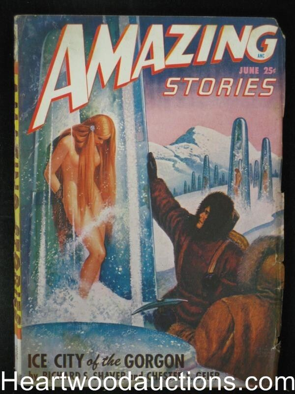 """Amazing Stories"" June 1948 Wild Robert Gibson Jones  Bondage Cvr - High Grade"