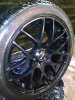 "THE HOTTEST RIMS HRE STYLE 19"" 19X8.5 SET 5X114.3 +35 BLACK + su"