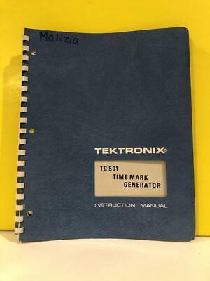 Tektronix 070-1576-00 Tg 501 Time Mark Generator Instruction Manual