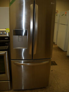 LG 22 cu.Ft. French Door Fridge-Stainless Steel