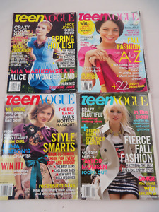 Teen Vogue Lot of 4x From 2008-2010
