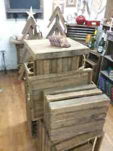 Hand crafted wooden stars, crates, ladders furniture & more  Stratford Kitchener Area image 3