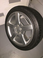 Four summer tires with AMG original Mercedes Mag