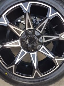 4 STARR RIMS WITH NEW ANTARES M5 TIRES 265/50/20