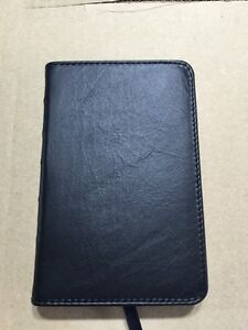 Small pocket King James Bible leather.