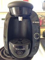 Tassimo single cup coffee maker with extras!