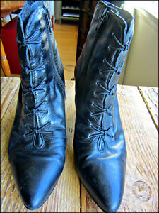 Vintage Leather Booties