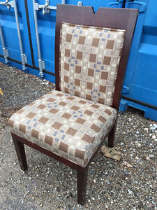 6 Solid Wood Dining Chairs - $150