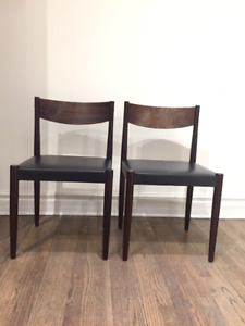 2 chairs Poul Volther MCM mid century scandinavian 1960 **Rare**