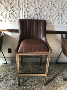 Brand New brown and brass counter/bar stools
