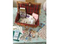 Hamper of card making items.
