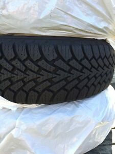 195/65/15 Goodyear Nordic winters on rims