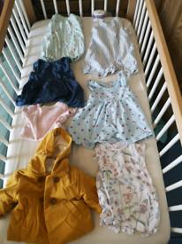 Baby girl clothing bundle.