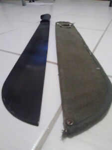 Black Machete With Sheath and Belt Clip