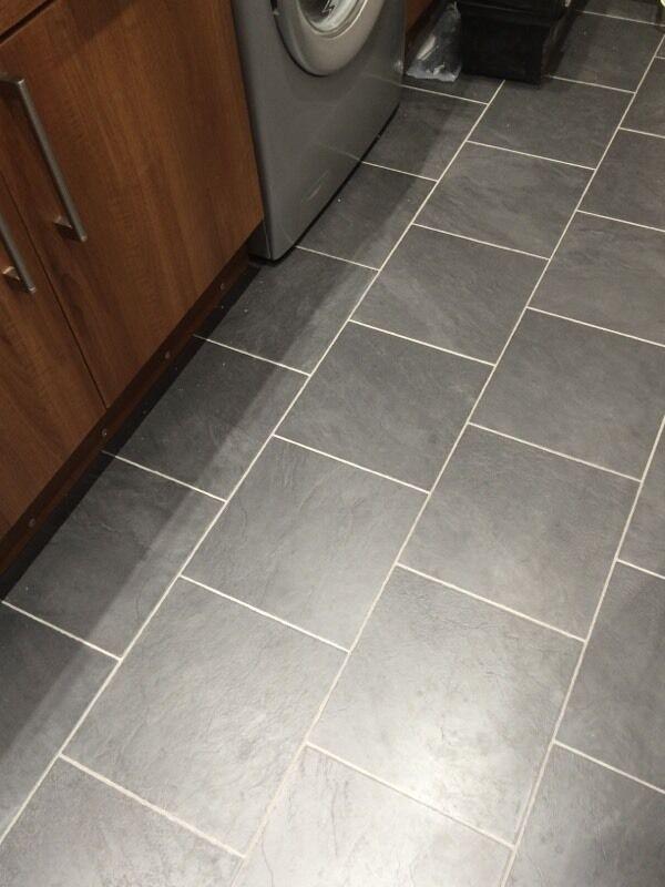 Grey Slate Tile Effect Laminate Flooring In Oban Argyll And Bute