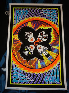 KISS Rock and Roll Over BLACK LIGHT Poster