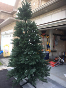 9ft pre-lit Christmas tree with Stand