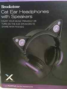 Purple Axent Wear Cat Ear Headphones Kitchener / Waterloo Kitchener Area image 1
