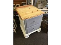 Solid pine bedside cabinet / stylish chest of drawers