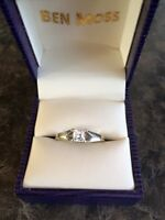Canadian Ice engagement ring and wedding band