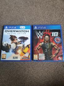 PS4 & PS5 Games, Overwatch Origins Edition & W2K18
