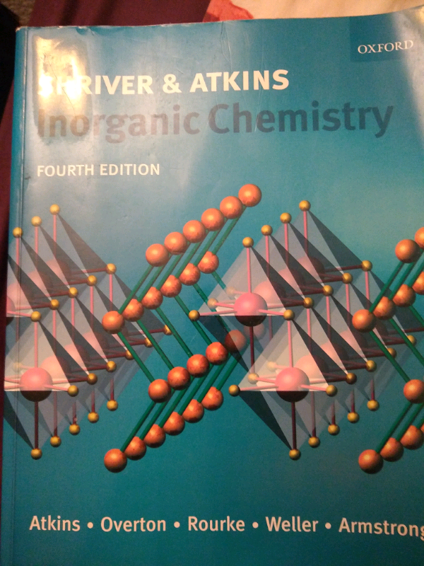 Inorganic Chemistry by Shriver and Atkins (4th Ed ) | in Stevenage,  Hertfordshire | Gumtree