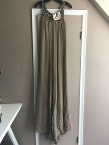 BCBG Maxi Dress in Taupe FOR SALE