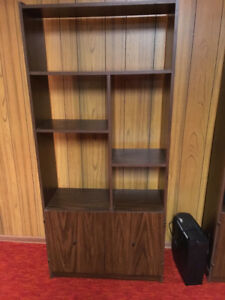 Wall unit with shelves and two doors